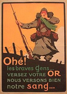 Affiche publicitaire - Campagne de l'or - France - Première Guerre mondiale - Emprunts - État - SchoolMouv - Histoire - CM2