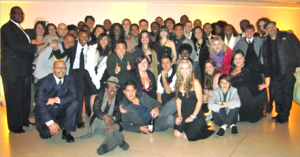 English: Group photograph of singers and music...