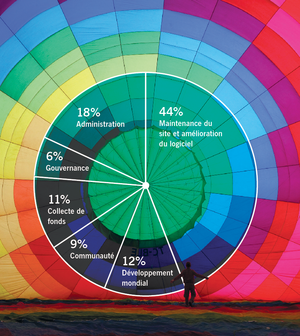 WMF annual report 2010-11, financials pie chart FR.png