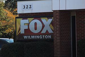 WSFX-TV - Fox Wilmington logo on side of studio building