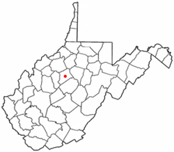 Location of Glenville, West Virginia