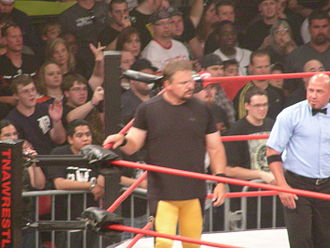 Shane Douglas - Douglas prior to his match at Slammiversary