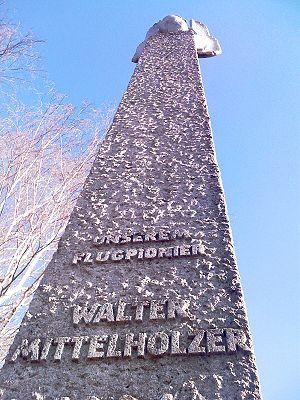 Walter Mittelholzer - Mittelholzer memorial at Zürich Airport.