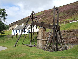 Wanlockhead - Hydraulic pumping engine at Wanlockhead