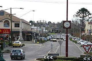 Warragul Town in Victoria, Australia