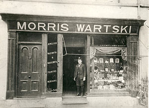 Wartski - Morris Wartski's first shop on High Street, Bangor, North Wales