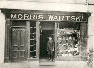 Wartski - Morris Wartski's first shop on High Street, Bangor, North Wales