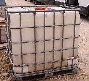 Rainwater tank - A plastic water container (IBC)
