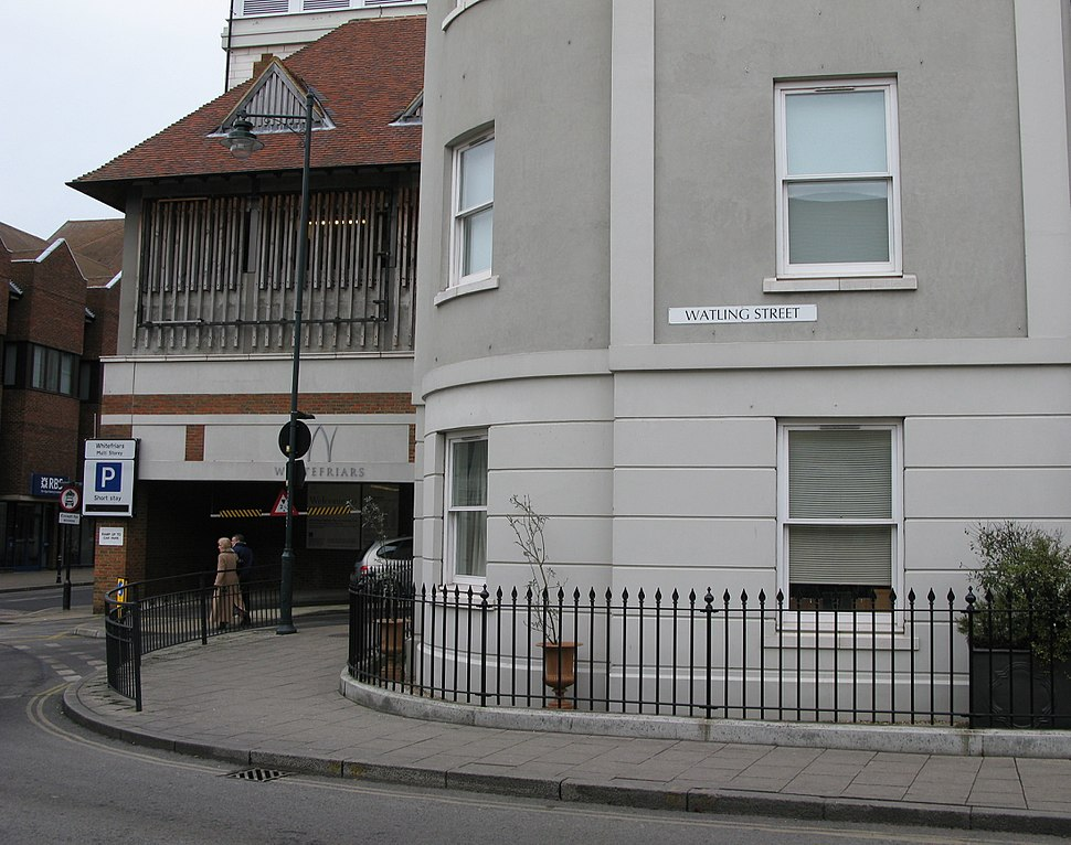 Watling Street sign in Canterbury