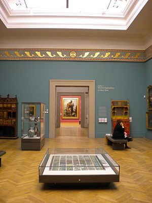 Manchester Art Gallery - The Good Samaritan by G. F. Watts framed by doorways