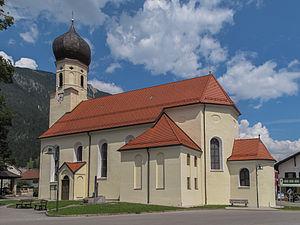 Weißenbach am Lech - Image: Weissenbach am Lech, katholische Pfarrkirche heilige Sebastian Dm 64962 foto 1 2014 07 25 13.17