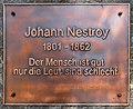 Weitensfeld Zammelsberg Dichtersteinhain Gedenktafel fuer Johann Nestroy 11042016 1363.jpg