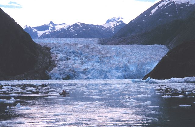 Whaler off of NOAA Ship John N. Cobb-Sawyer Glacier