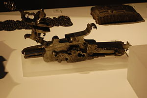 Wheellock - A wheellock pistol mechanism from around 1730.