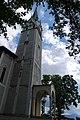 Wieża kościoła parafialnego Najświętszego Serca Pana Jezusa.JPG