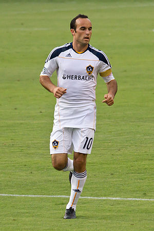 LA Galaxy - Landon Donovan playing for Galaxy in 2010