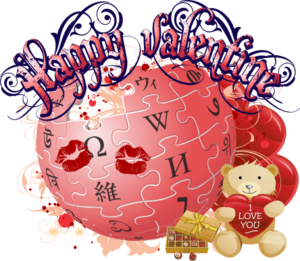 English: Wikipedia Valentine's Day