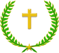 Wikipedia laurier Latin cross.png
