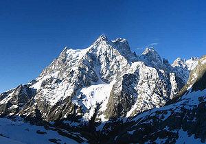 Mont Pelvoux - North face of Mont Pelvoux