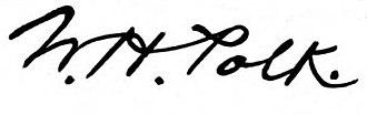 William Hawkins Polk - Image: William hawkins polk signature
