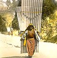 William Henry Jackson-Woman carrying large corrugated sheets.jpg