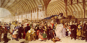 1862 in art - Frith's depiction of Paddington railway station, London
