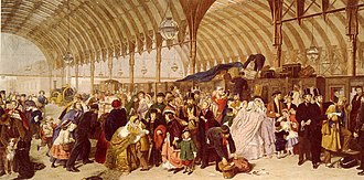 Timeline of art - Image: William Powell Frith The Railway Station