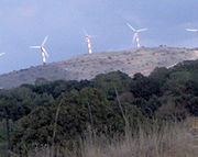 Wind turbines in the Golan Heights
