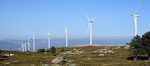 Windpark in Galicia, Spain.