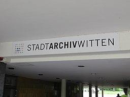 Witten Stadtarchiv Schriftzug
