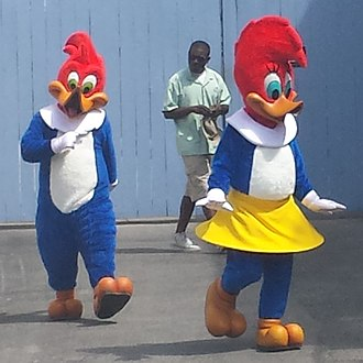 Universal Studios Florida - Woody and Winnie Woodpecker are among the mascots of Universal Studios