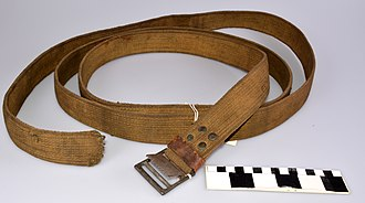 Webbing - World War I canvas webbing strap