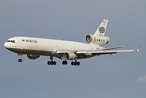 World Airways - World Airways MD-11F arriving at Stockholm – Arlanda Airport