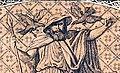 Wotan mit Hugin und Munin im Sgraffito von Wahnfried.jpg