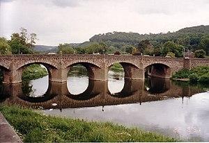 Wye Bridge, Monmouth - Image: Wye Bridge, Monmouth geograph.org.uk 36247
