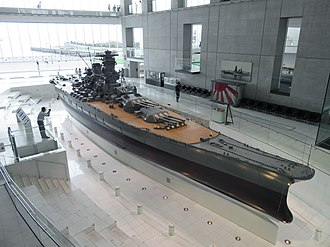 Japanese battleship Yamato - The 1:10 scale model at the Yamato Museum