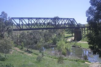 Yass River - A railway bridge over the Yass River.