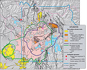 Yellowstone sits on top of three overlapping calderas. (USGS)