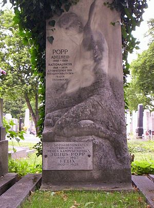 Adelheid Popp - Zentralfriedhof, Vienna - grave of Adelheid and Julius Popp