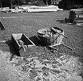 """""""Košica"""" (košara) za jabolka in krompir znašat, korito za tolči jabolka, v njem """"toukec"""" ali """"toukalo"""", Podboršt 1950.jpg"""