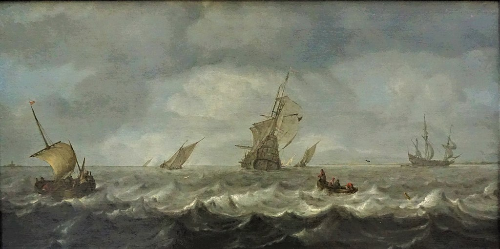 """Seascape"" by Arnoldus van Anthonissen - Gemäldegalerie, Berlin"