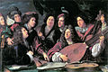 'Portrait of several musicians and artists' by François Puget 1688 - Brunel 1980 p31.jpg