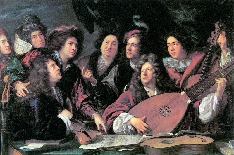 File:'Portrait of several musicians and artists' by François Puget 1688 - Brunel 1980 p31.jpg