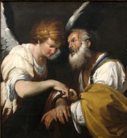 'The Release of St. Peter', oil on canvas painting by Bernardo Strozzi, c. 1635, Art Gallery of New South Wales.jpg