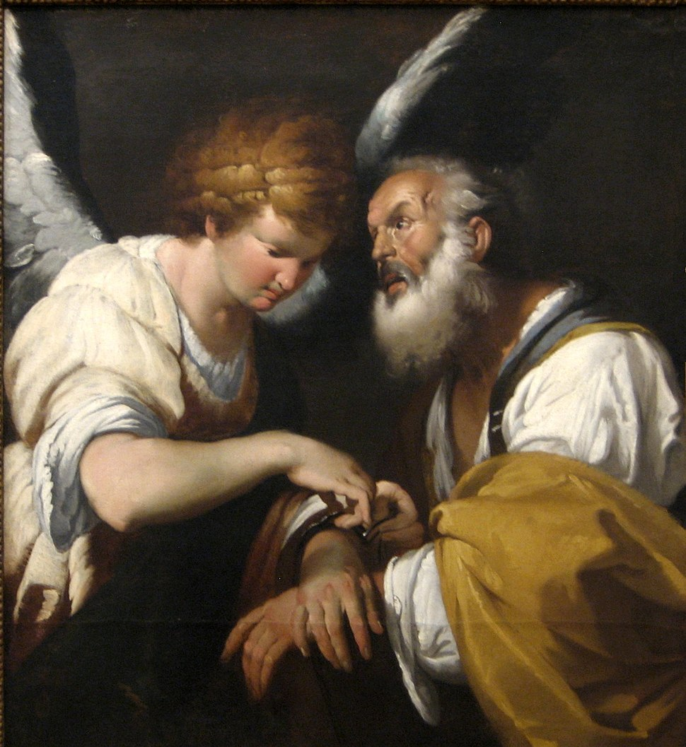 %27The Release of St. Peter%27, oil on canvas painting by Bernardo Strozzi, c. 1635, Art Gallery of New South Wales