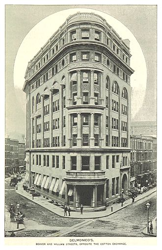Delmonico's - Delmonico's, Beaver and Williams Streets, 1893
