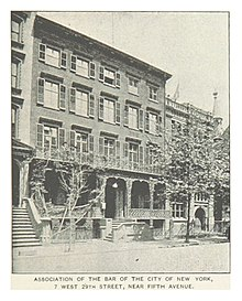 Association Of The Bar City New York 7 W 29th St In 1890s