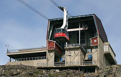 Kabinbanans slutstation på toppen av berget Åreskutan
