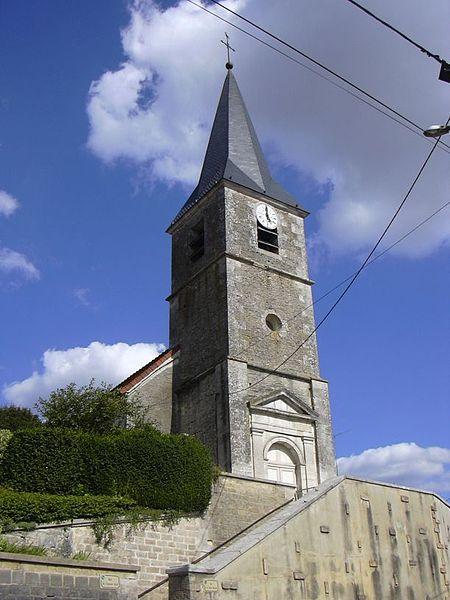 Notre-Dame-de-l'Assomption's church in Rizaucourt-Buchey (Haute-Marne, Champagne-Ardenne, France).