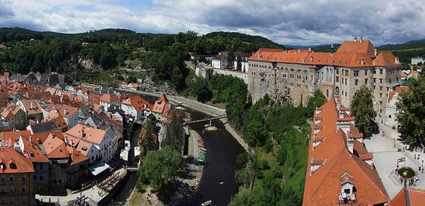 Český Krumlov (Krummau) - panorama from castle tower